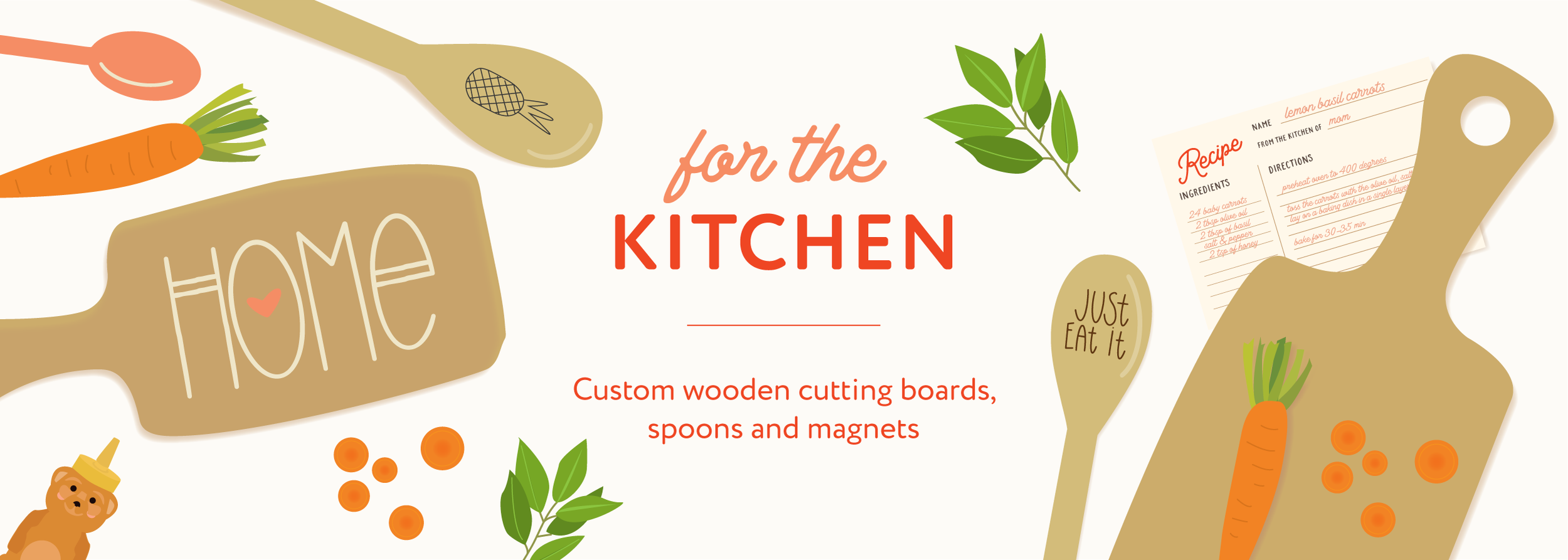 Custom wooden cutting boards, custom wooden spoons