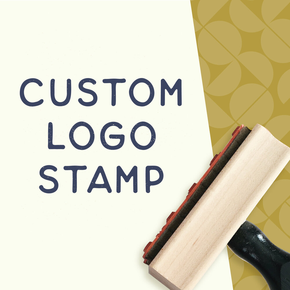 Business Card Stamp Company Stamp Stamp Logo CUSTOM 2.5 x 2.5 inch Stamp Custom Artwork Stamp Business Stamp Custom Logo Stamp