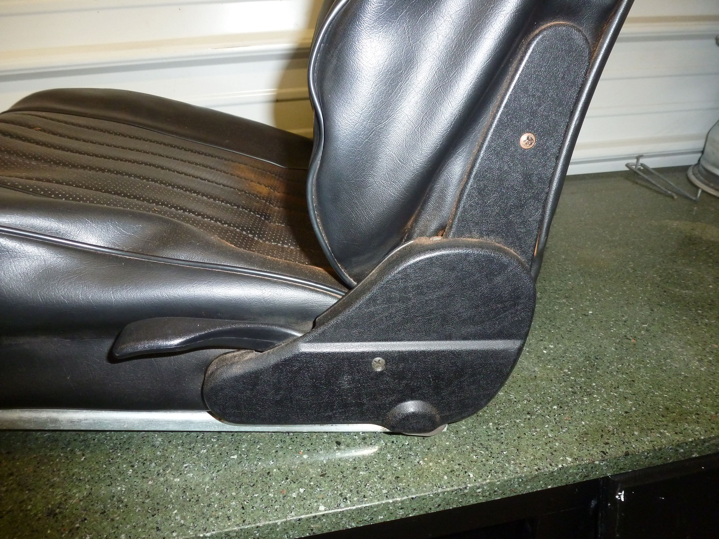 From this photo one can see the effects of the seat padding breaking down.