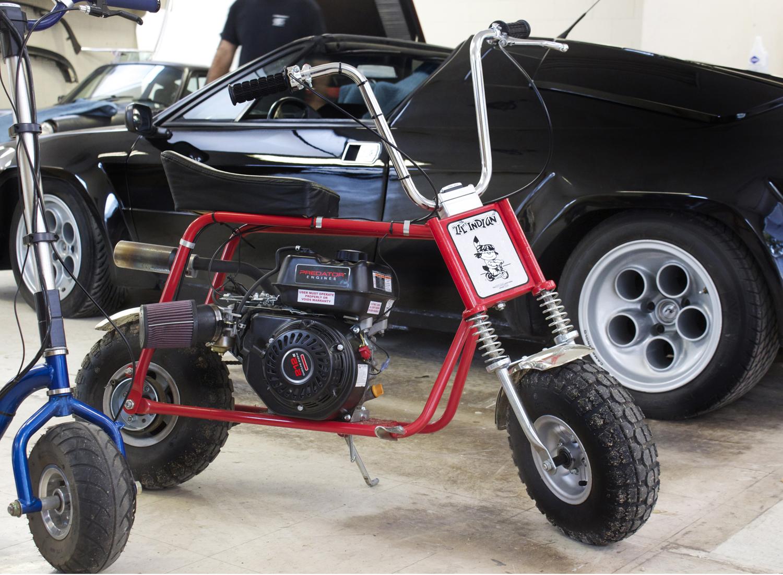 Little Indian mini-bike with a lawn mower motor.