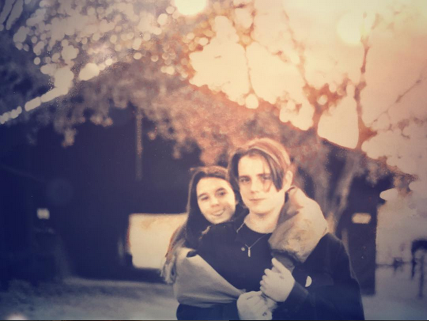 Bill is 16 in this photograph of he and his wife in 1993.