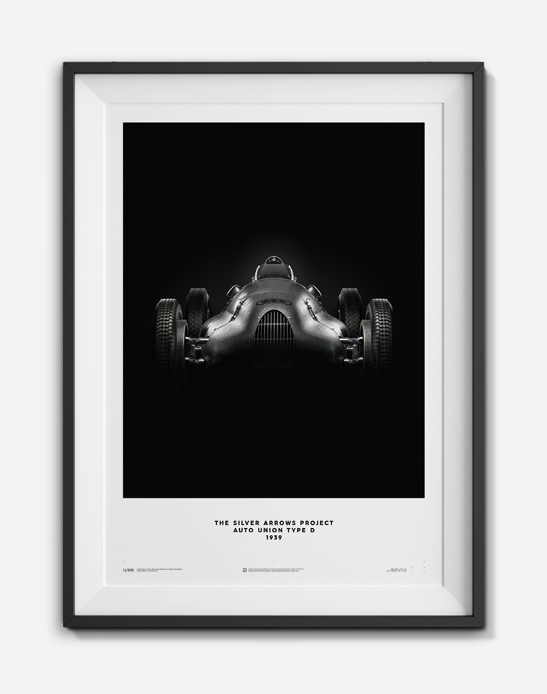 Unique and Limited Silver Arrows Print