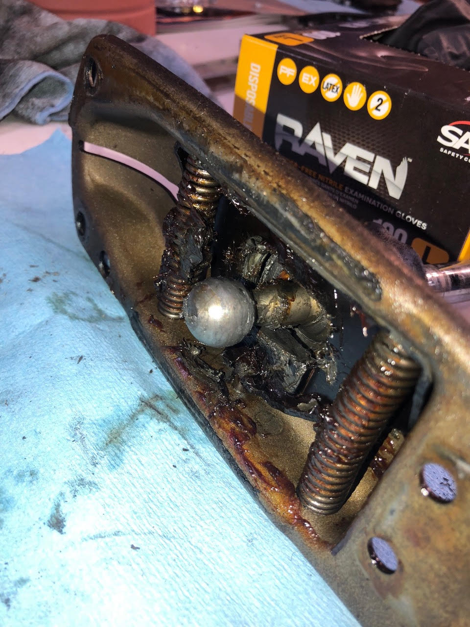 Where did the shifter ball socket bushing go? Basically nothing of the original bushing was remaining.