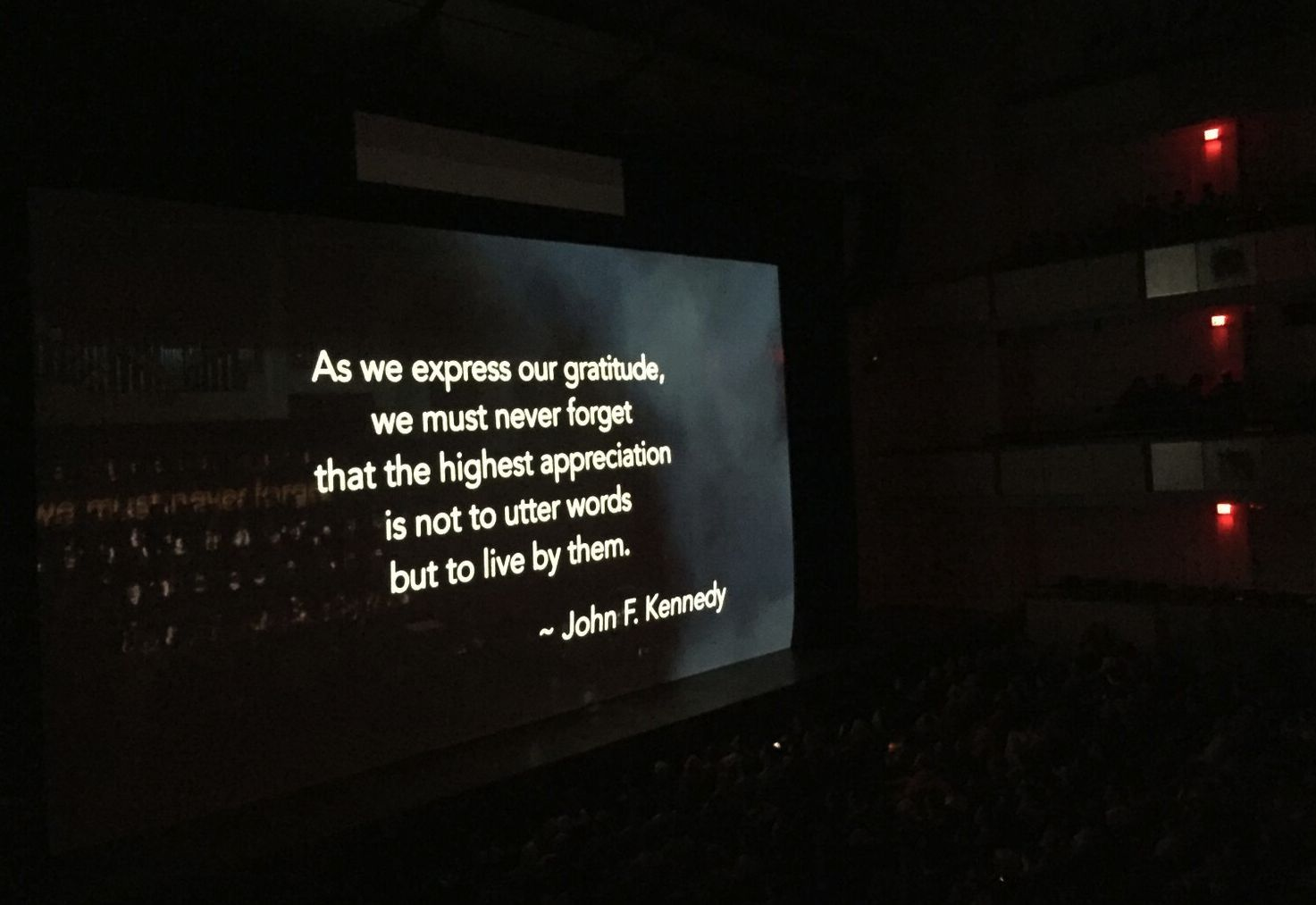 Legacy  was screened at the Kennedy Center Concert Hall (JFK Centennial Celebration,May 25, 2017) prior to a performance of  The Hubble Cantada .
