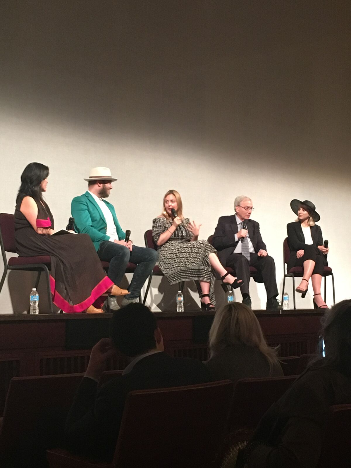 Following a Kennedy Center performance of  Hubble Cantada , Lumahai's Elena Park moderated an onstage panel with [L-R, second from left]librettist Royce Vavrek, composer Paola Prestini, Hubble Telescope astrophysicist Mario Livio, and VR filmmaker Eliza McNitt ( Fistful of Stars ).