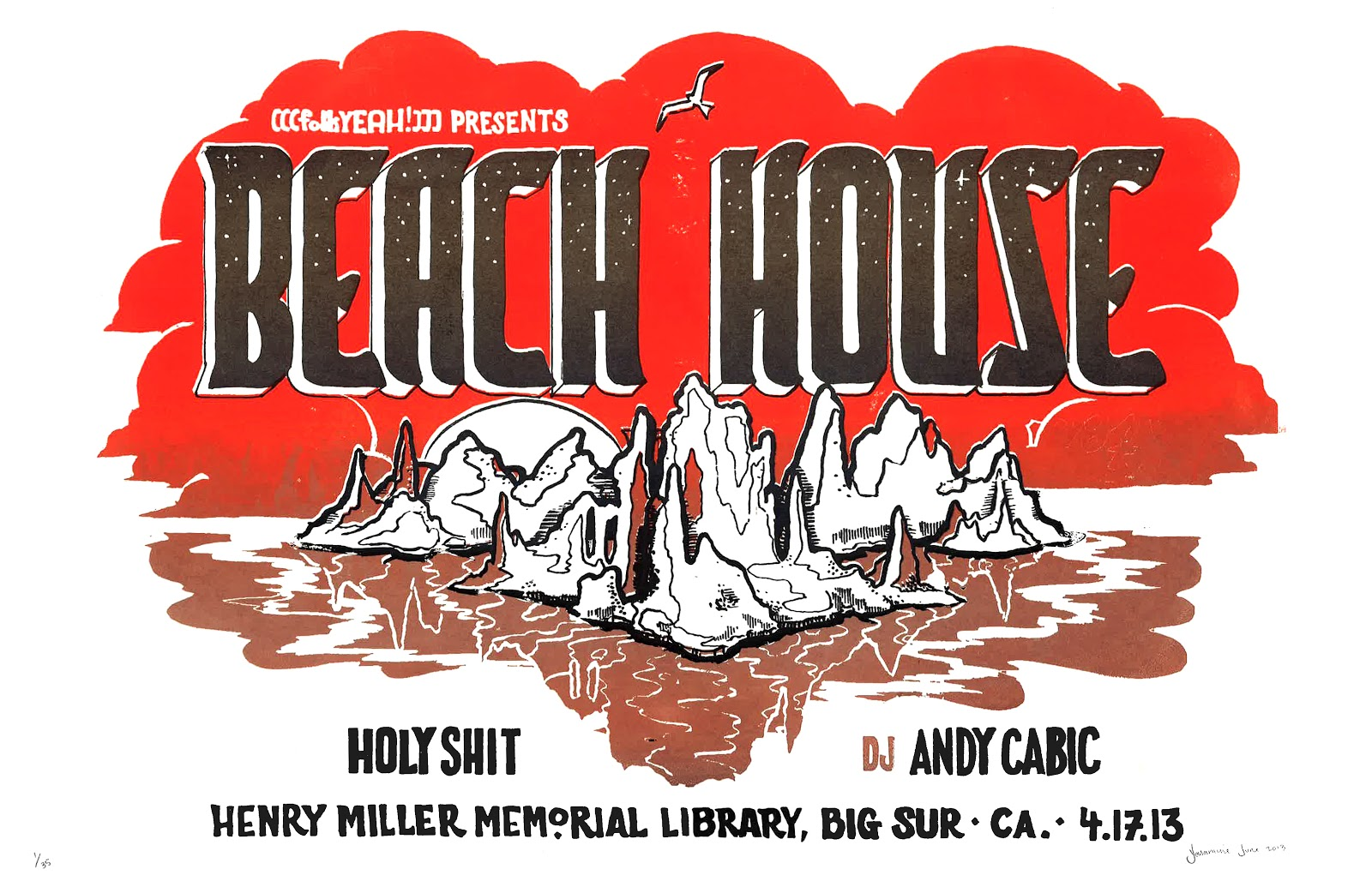 Concert Poster for Beach House
