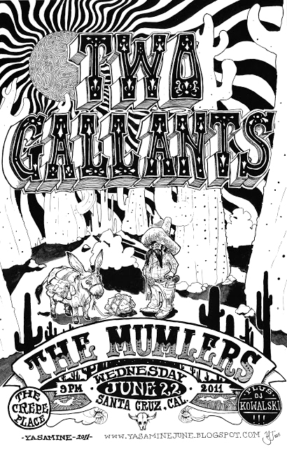 Concert Poster for Two Gallants