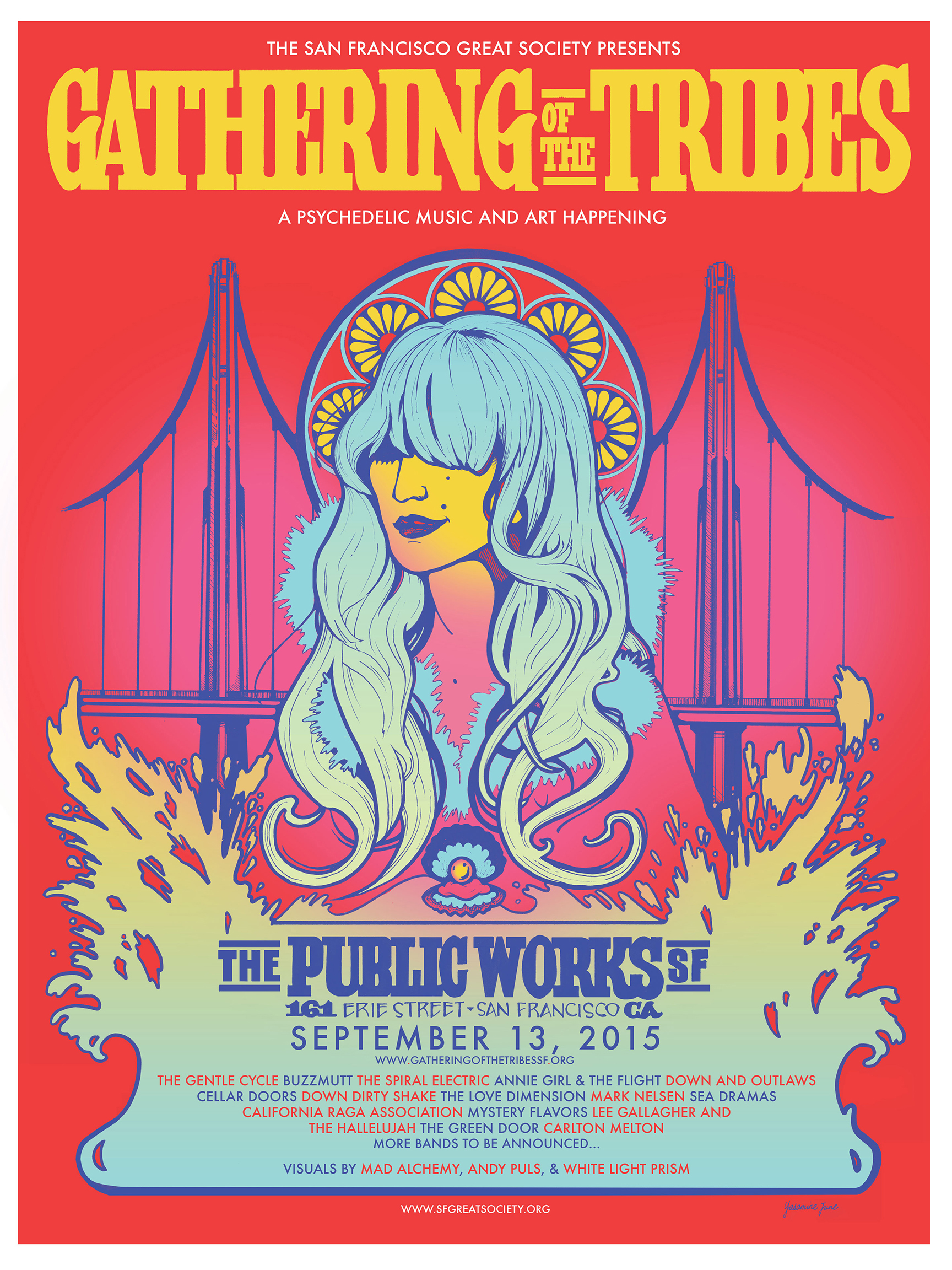 Festival Poster for Gathering of the Tribes 2015