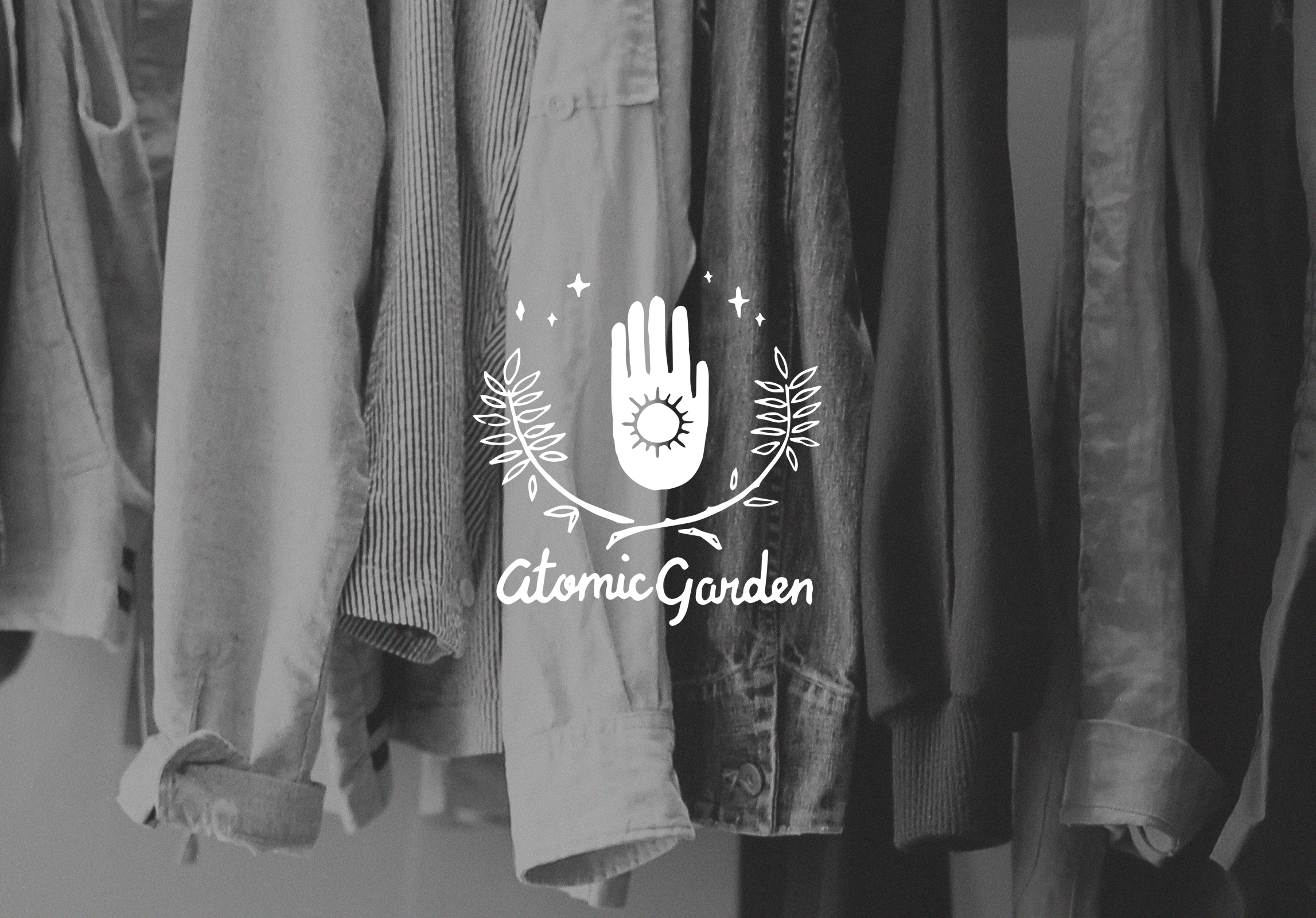 Hand-Lettered Logo for Atomic Garden