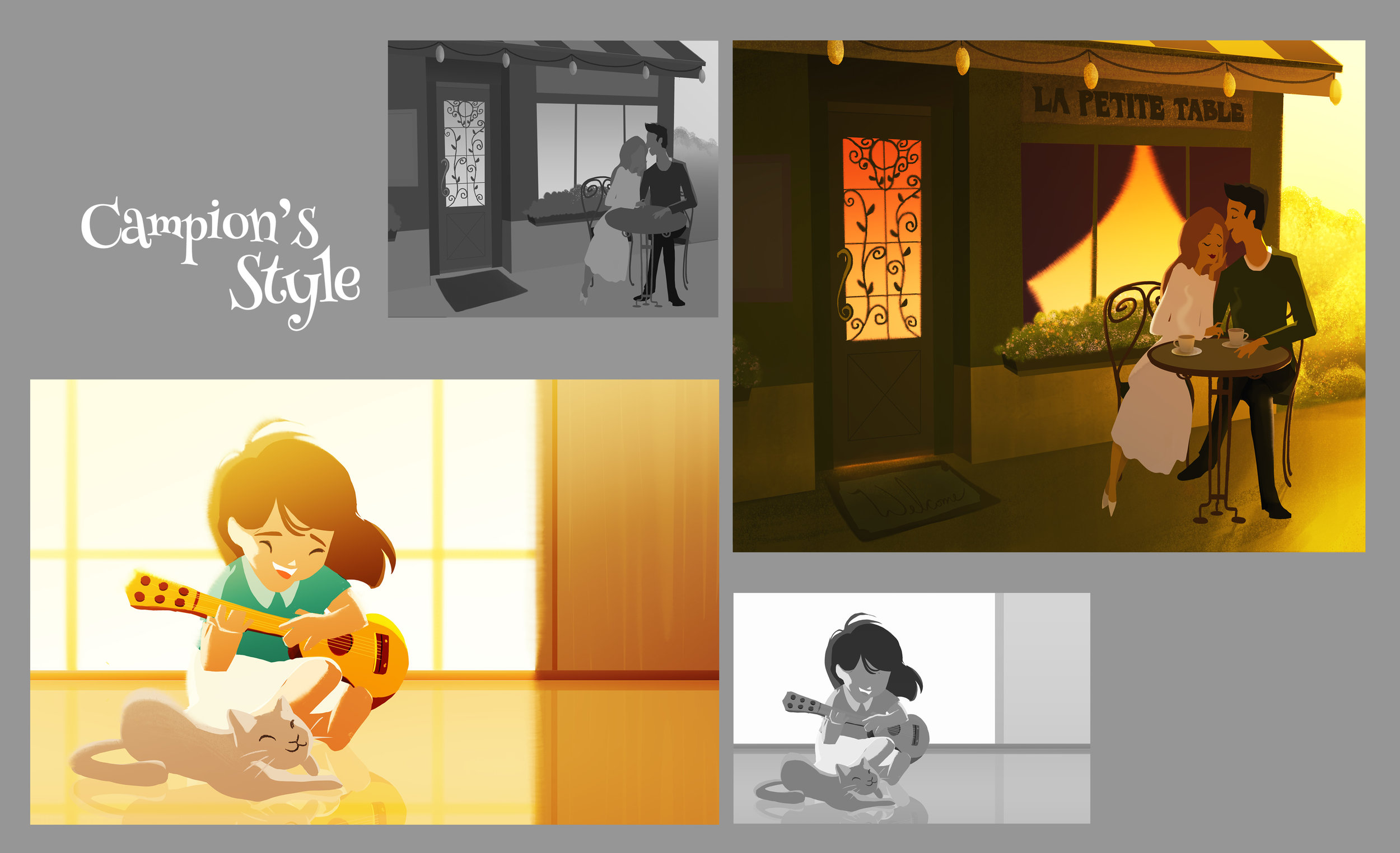 Inspired by the style of Pascal Campion