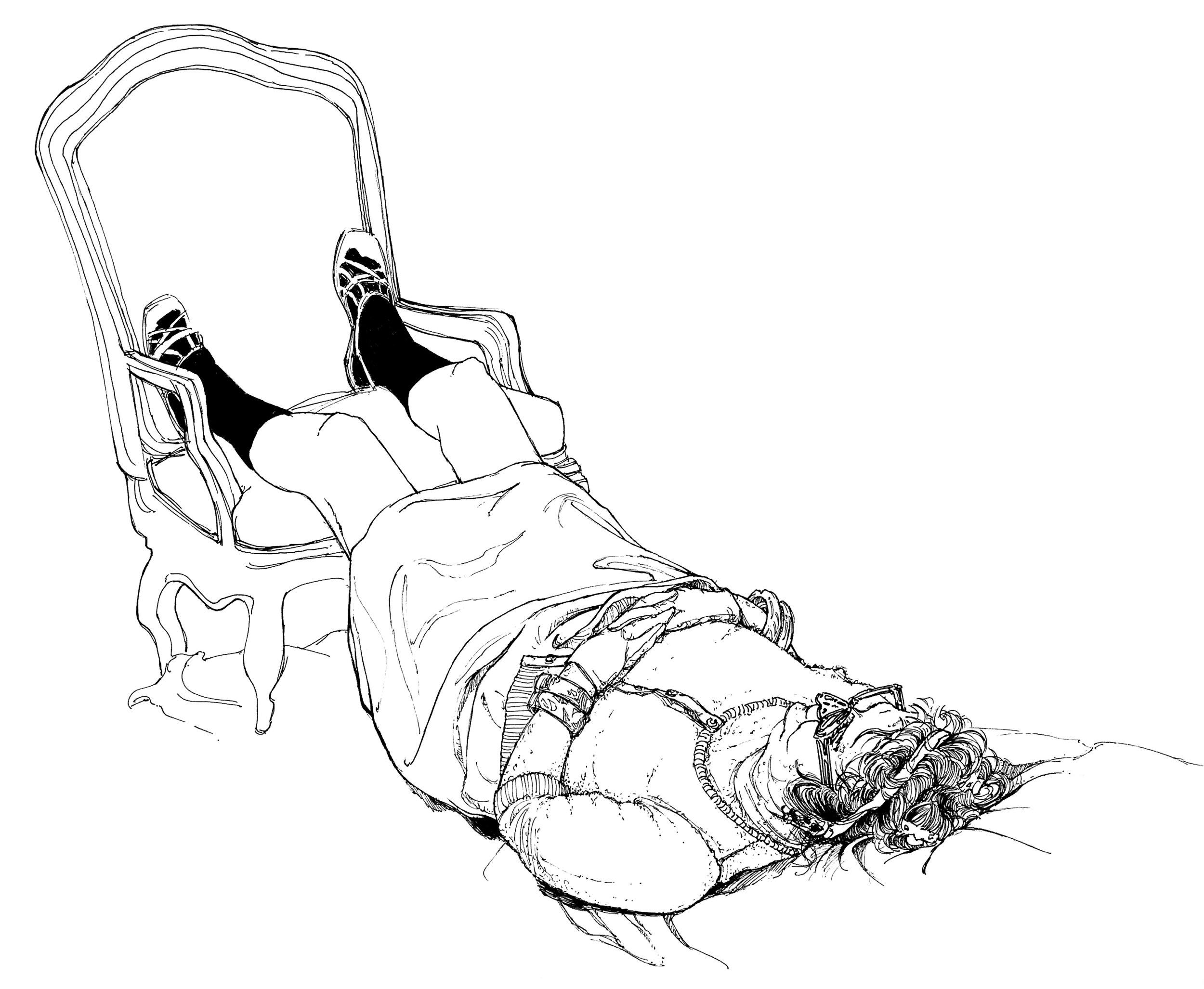Woman Lying of Floor