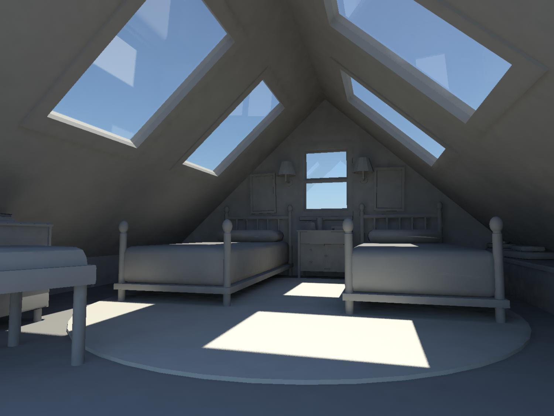 3D Attic Room