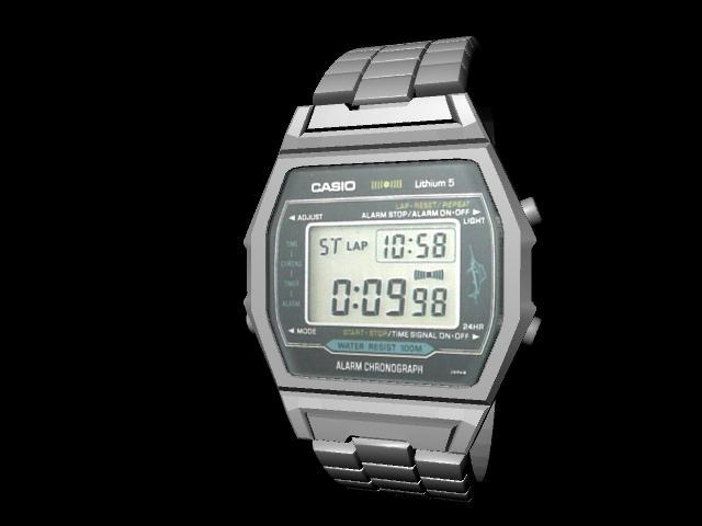 3D Classic Casio Watch