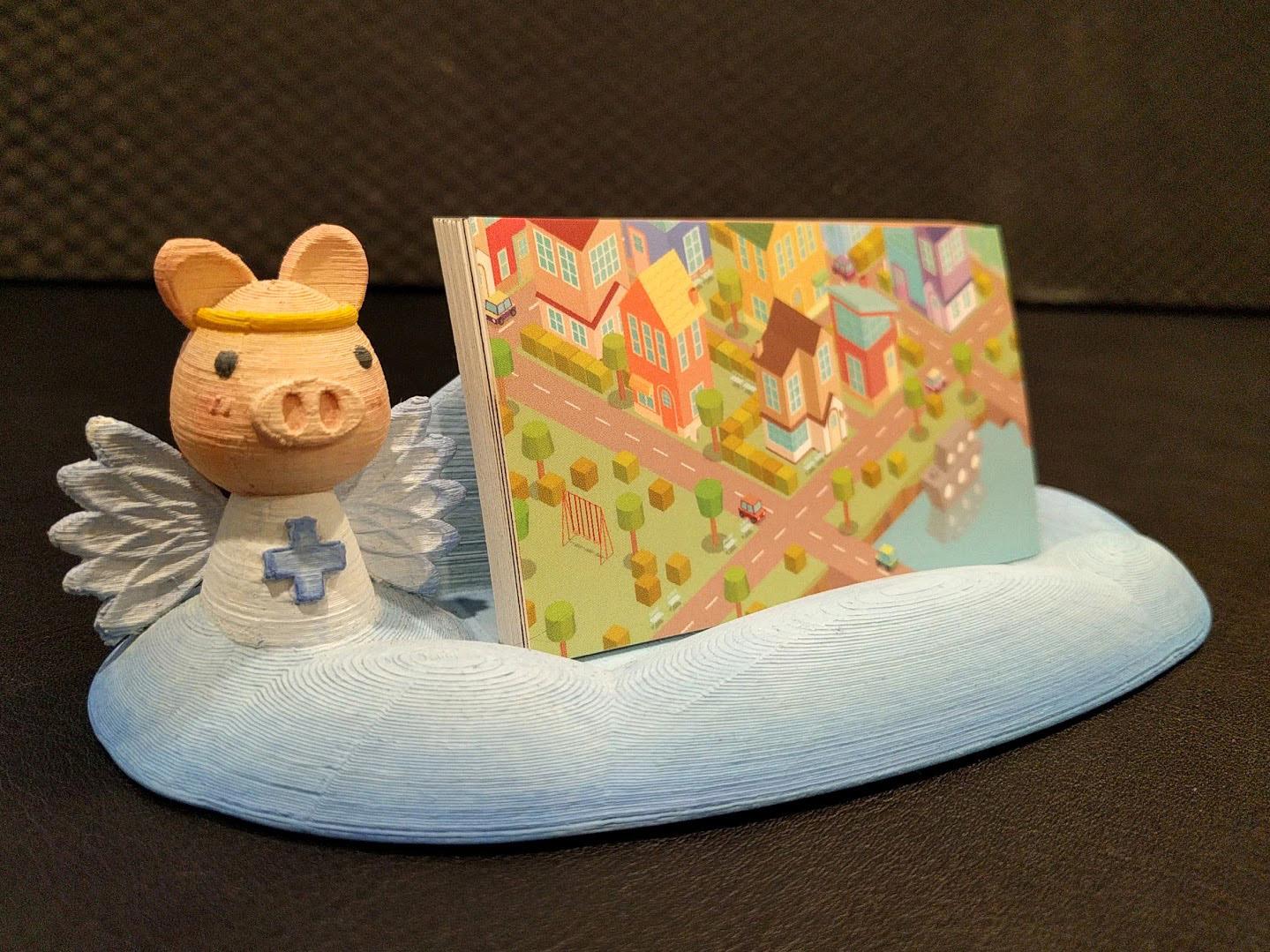 Angel Pig Business Card Holder