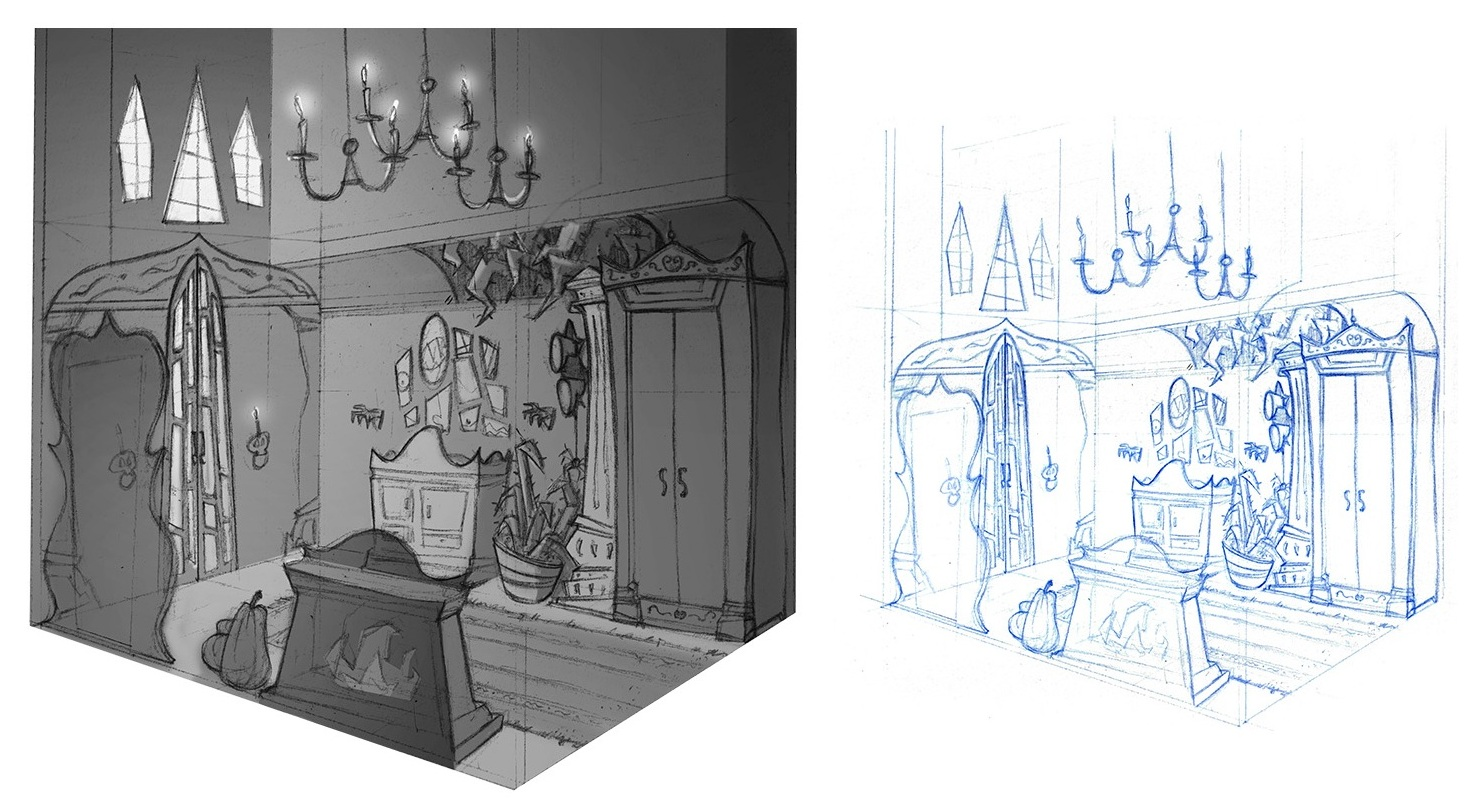 Set Design - Quick Value Study and Sketch