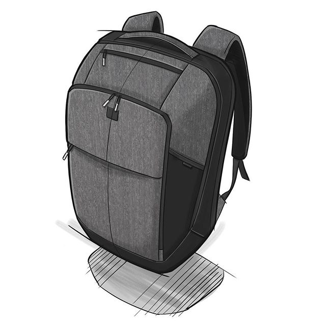 Here's another concept. The idea is to use one bag for everything- travel, business, and play. It's organized up front and a suitcase in the back. . . . . #backpackdesign #id #productdesign #sketch #process #idsketching #sketching #sketchbook #illustration  #conceptsketch #ideation #bagdesign #design #softgoods #backpack #adventuretravel #travel #cordura #everydaycarry #edc #travelbackpack #onebackpack #knackbags #onebaglife @knackbags