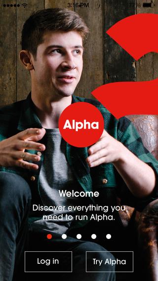 Alpha Denmark's new app