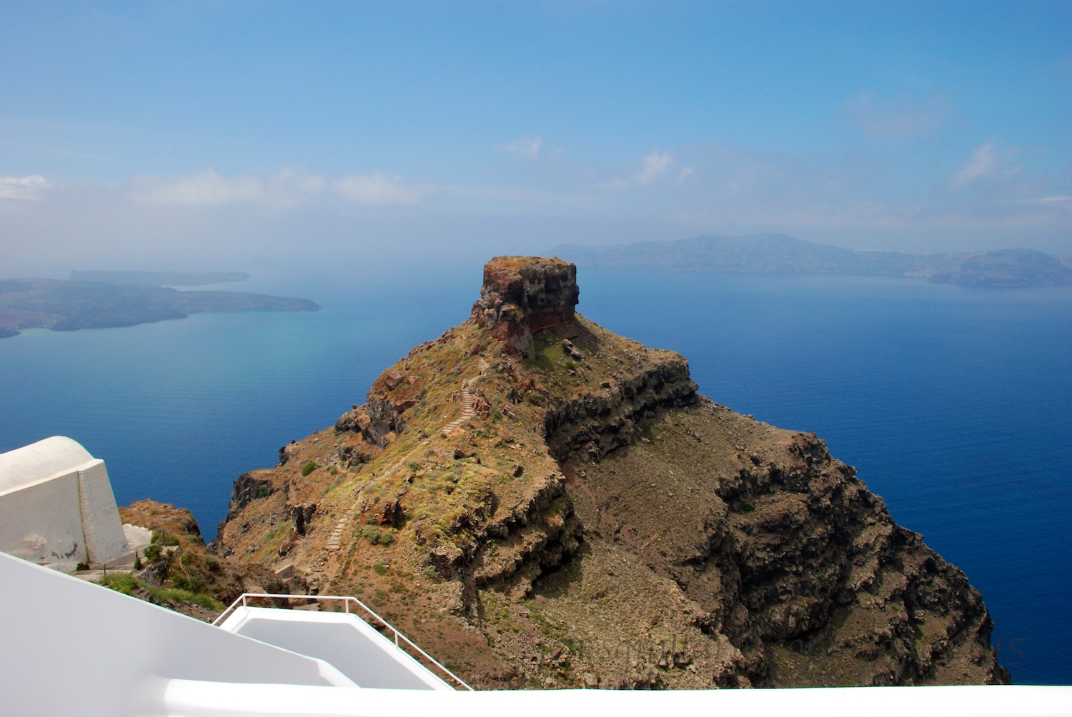 The view from Astra Suites in Santorini, Greece.  See  www.astrasuites.com  for more information.