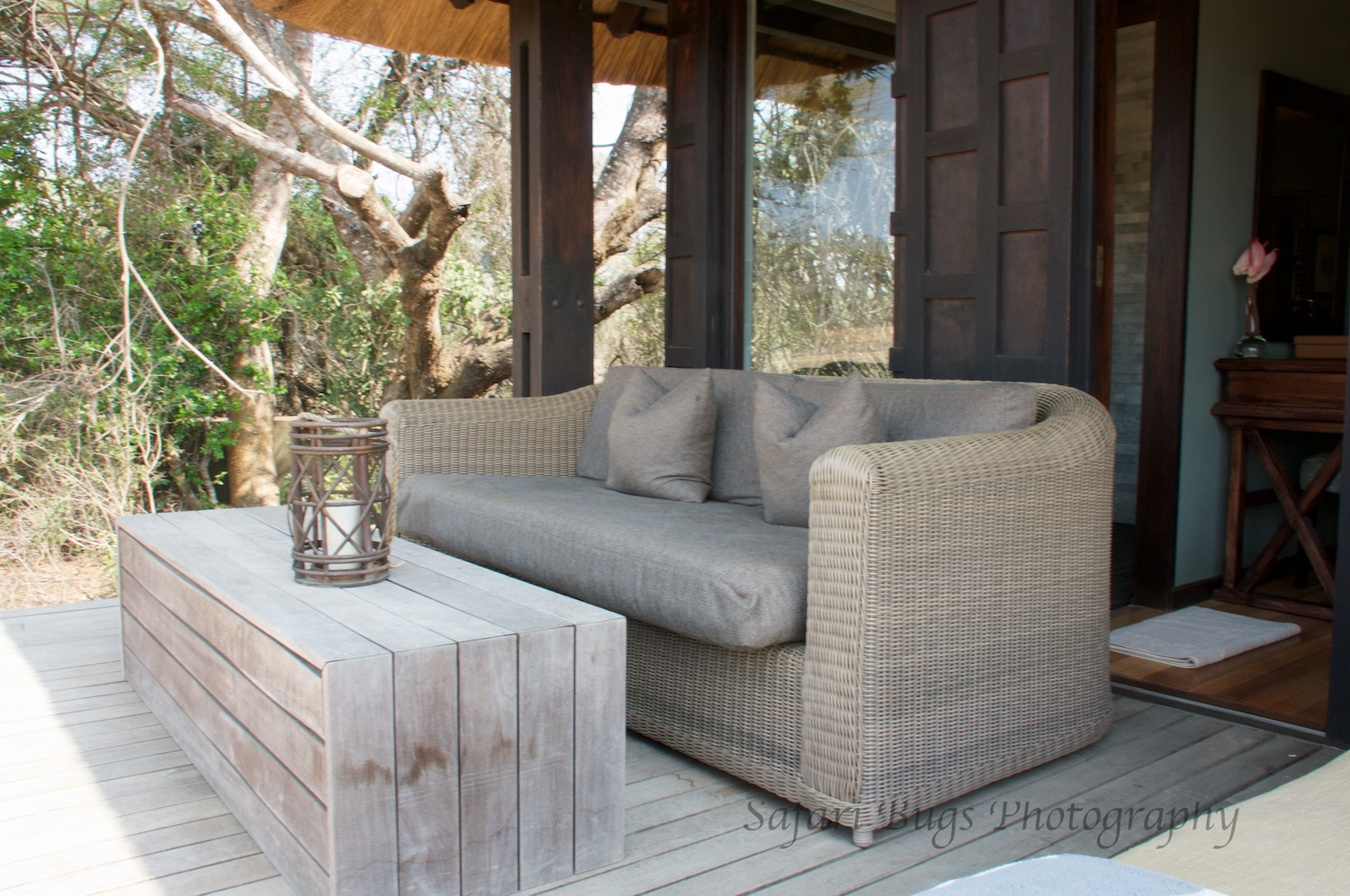 The outdoor seating area, perfect for lounging mid day.