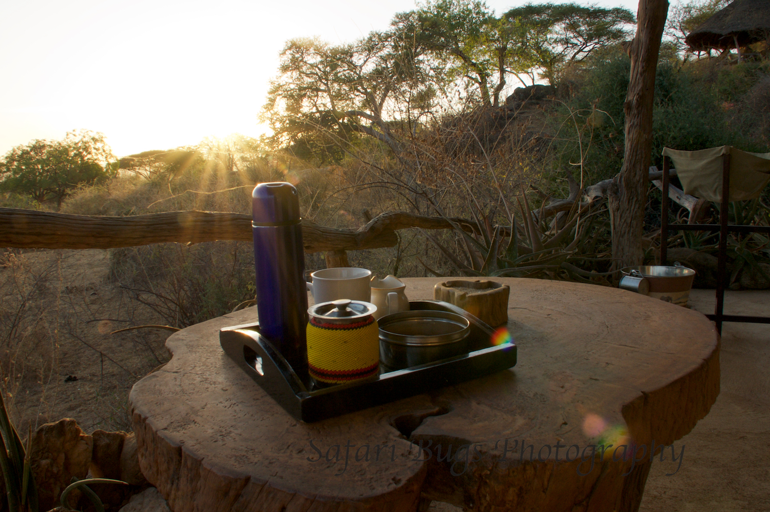 Coffee and Sunrise on My Room's Deck