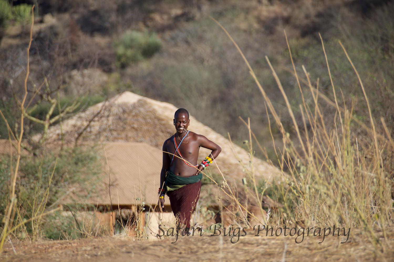 Samburu Tending the Orphaned Animals