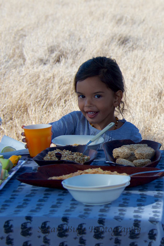 Daniela Enjoying Breakfast