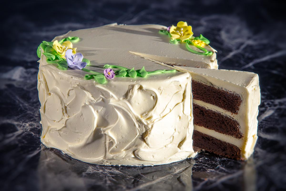 Celebration Cake (chocolate with vanilla buttercream)
