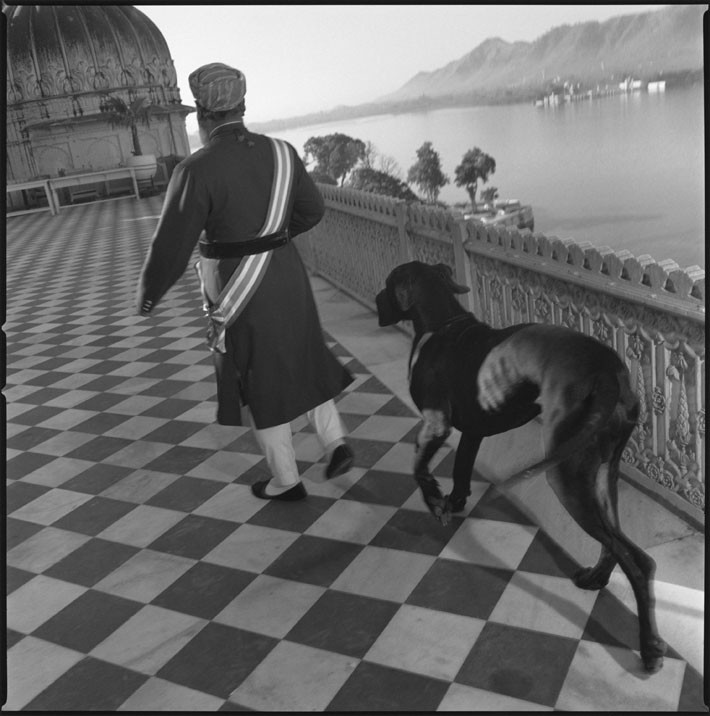 Mark, Mary Ellen. Maharaja of Udaipur and his dog. 1996.
