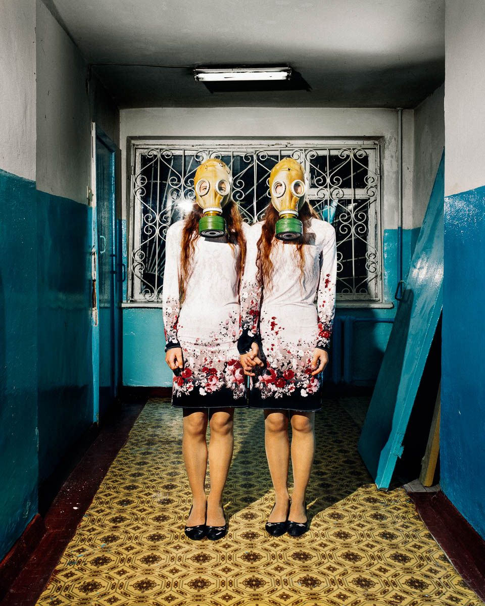 "Twins, from the series ""LET US NOT FALL ASLEEP WHILE WALKING"". David Denil"