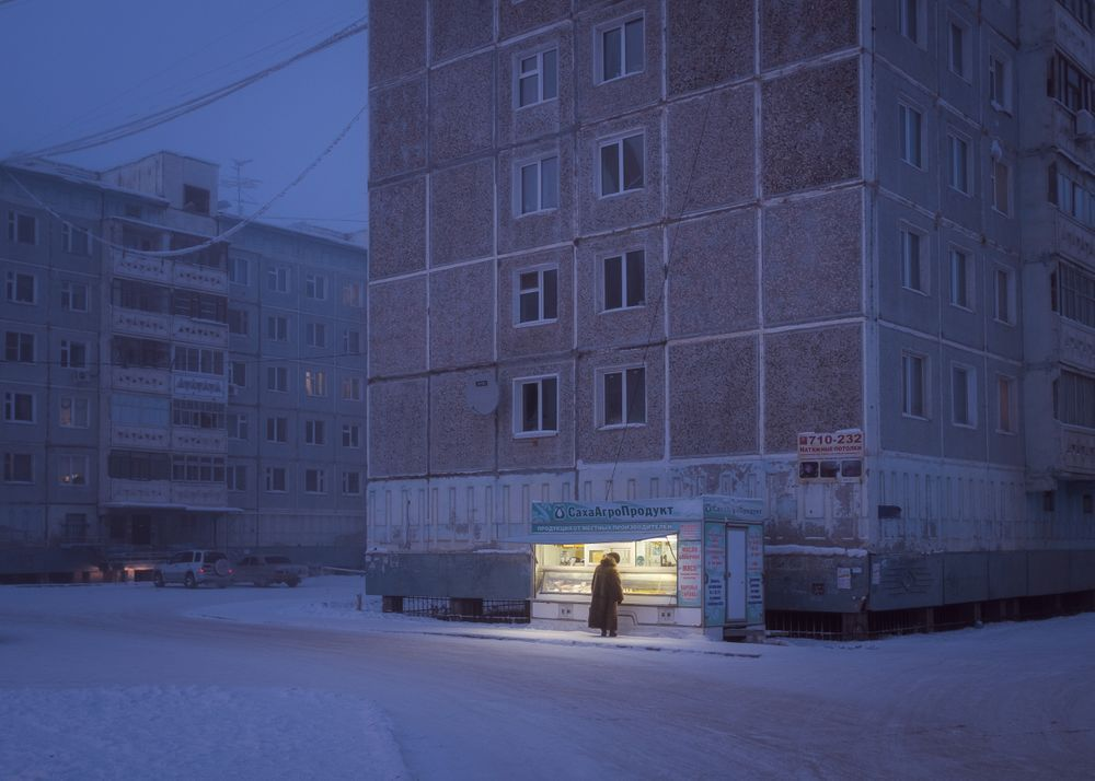 Buildings in Yakutsk are constructed on stilts because of the permafrost. Stilts are needed to prevent the house's heat from melting the permafrost. Alex Vasyliev