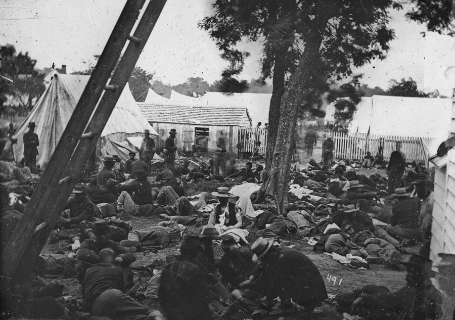 field hospital at Savage Station, VA, after the battle of June 29, 1861