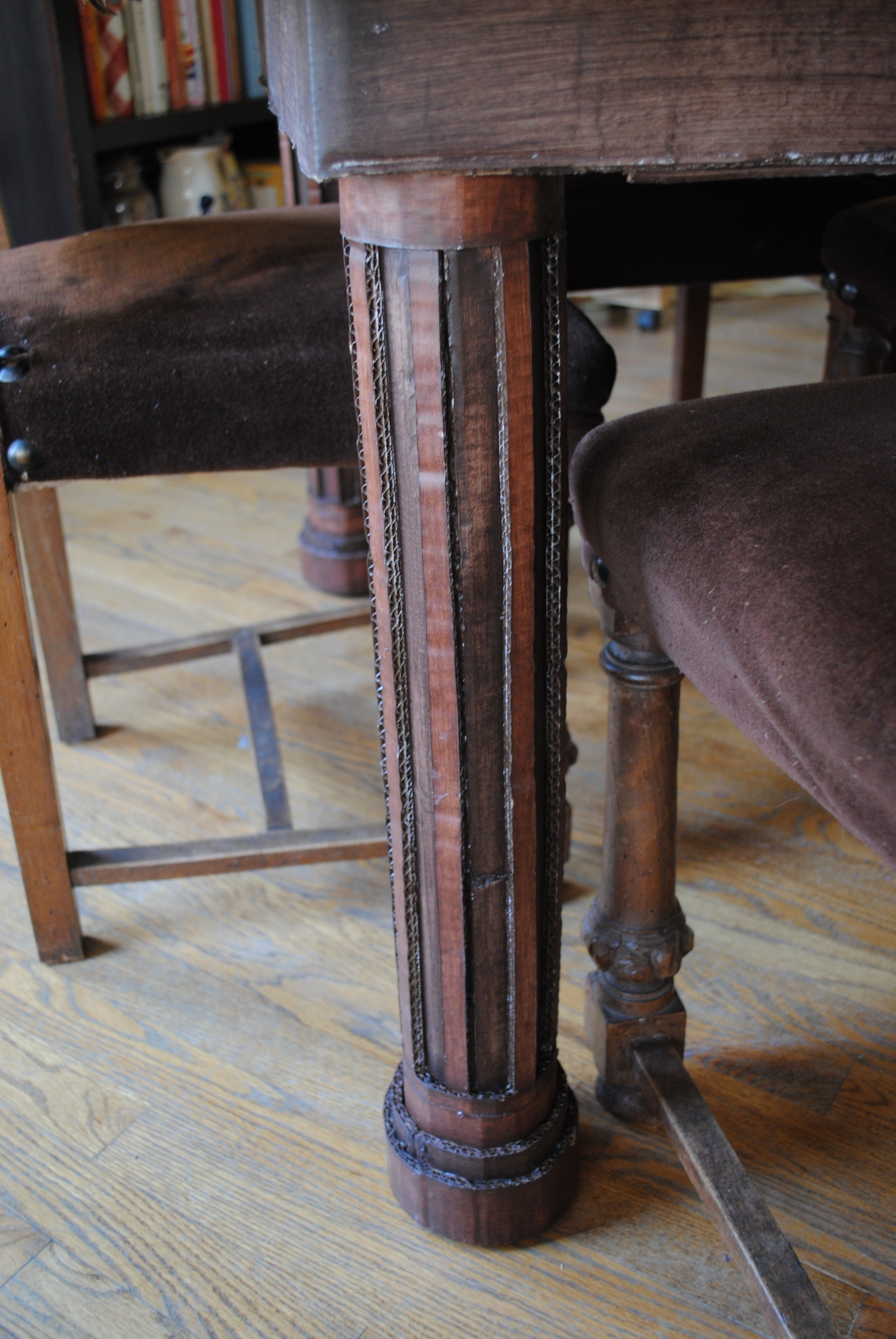 Close up of leg, Dining with the Dead.JPG