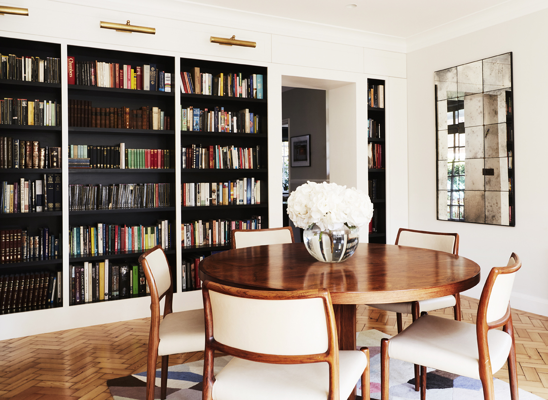 An image of the dining room from our Hampstead House project.