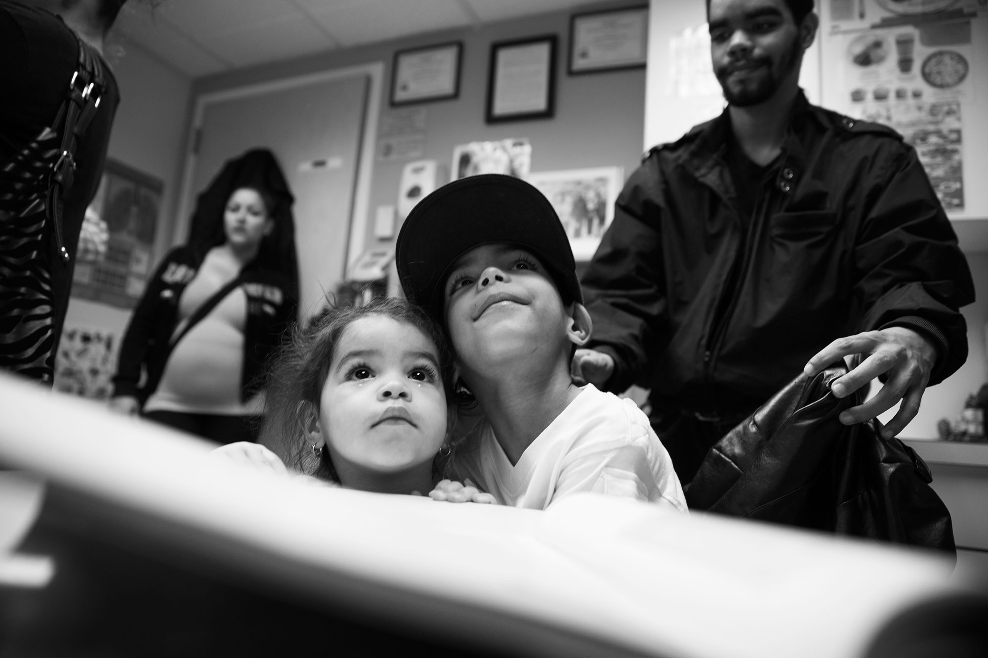 5 year old Asthma patient Kelvin Torres and his two year old sister, Janalisse.