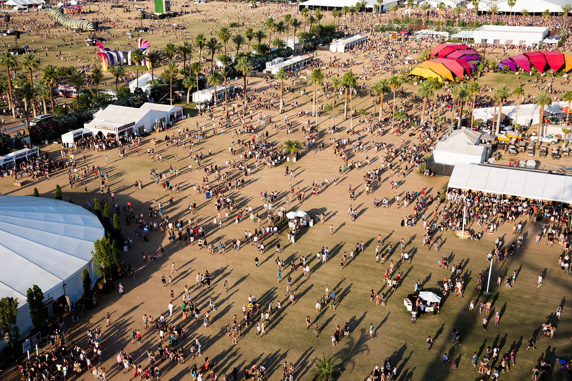 An aerial view of Coachella.