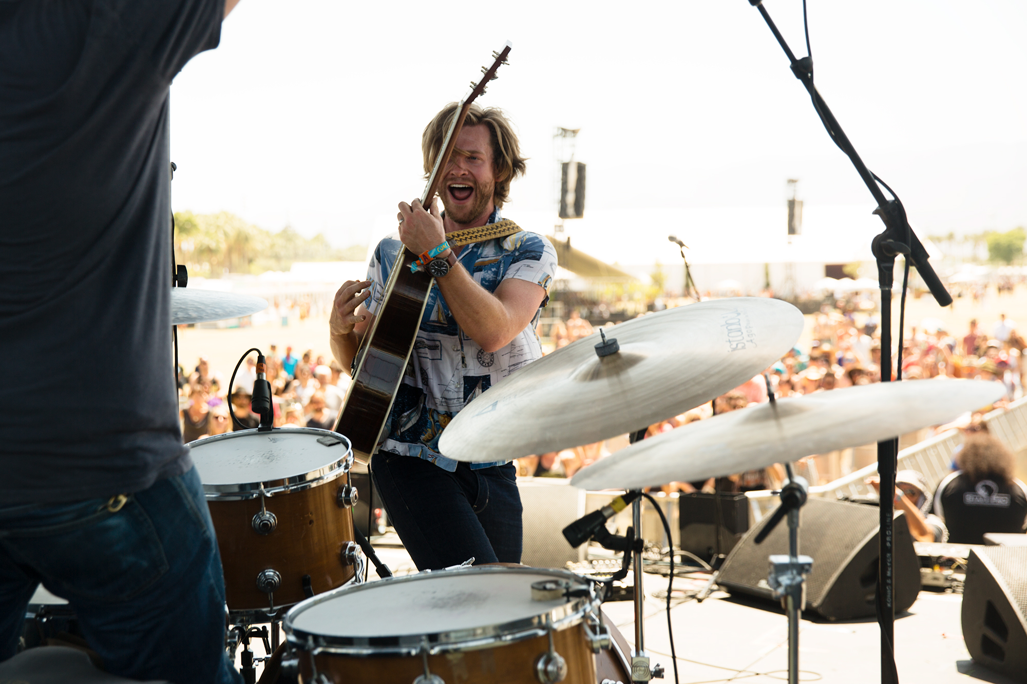 Mr. Clay and Jamestown Revival perform at the Outdoor Theatre at Coachella on April 18, 2015. The band performed both weekends.