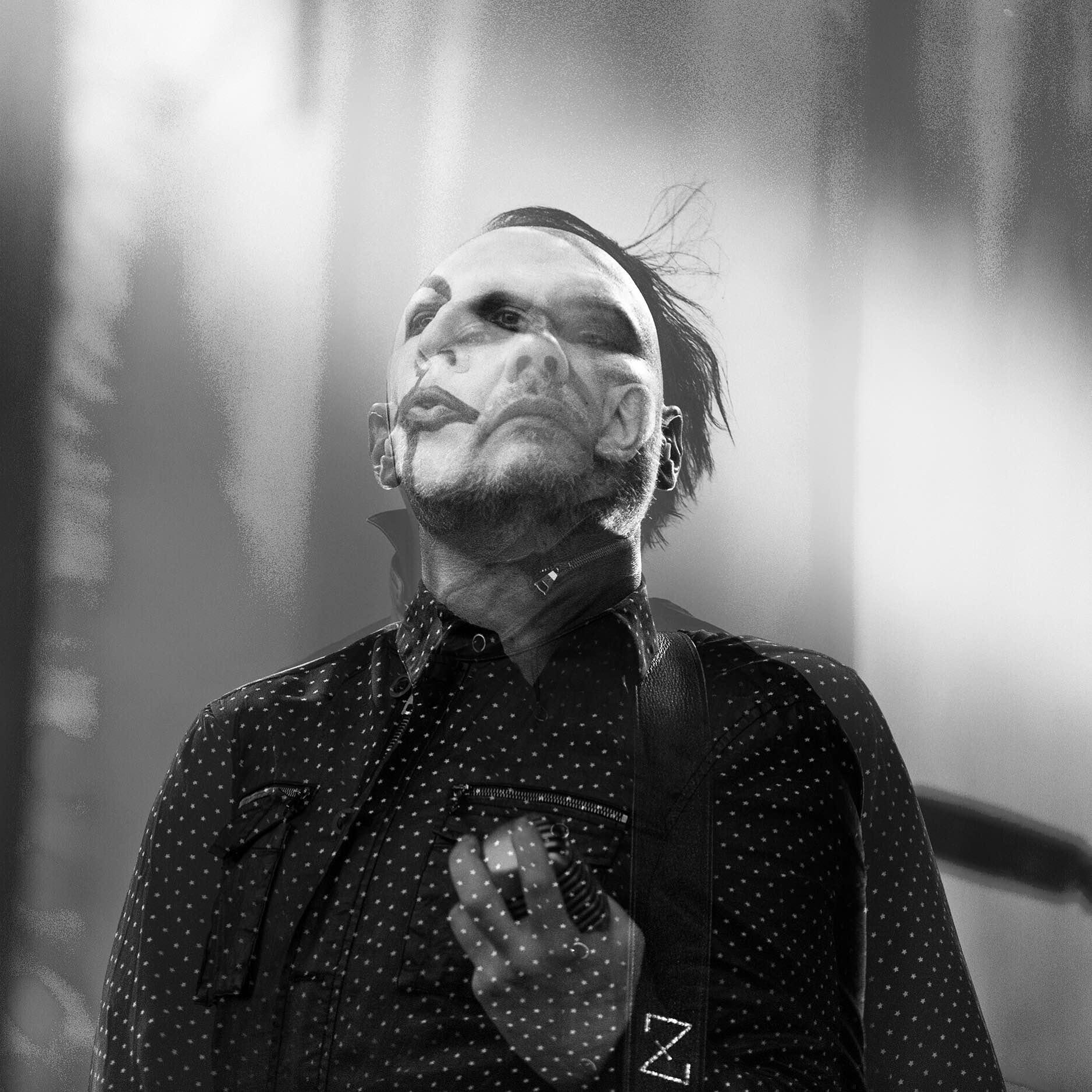 Billy Corgan of The Smashing Pumpkins and Marilyn Manson, 2015.