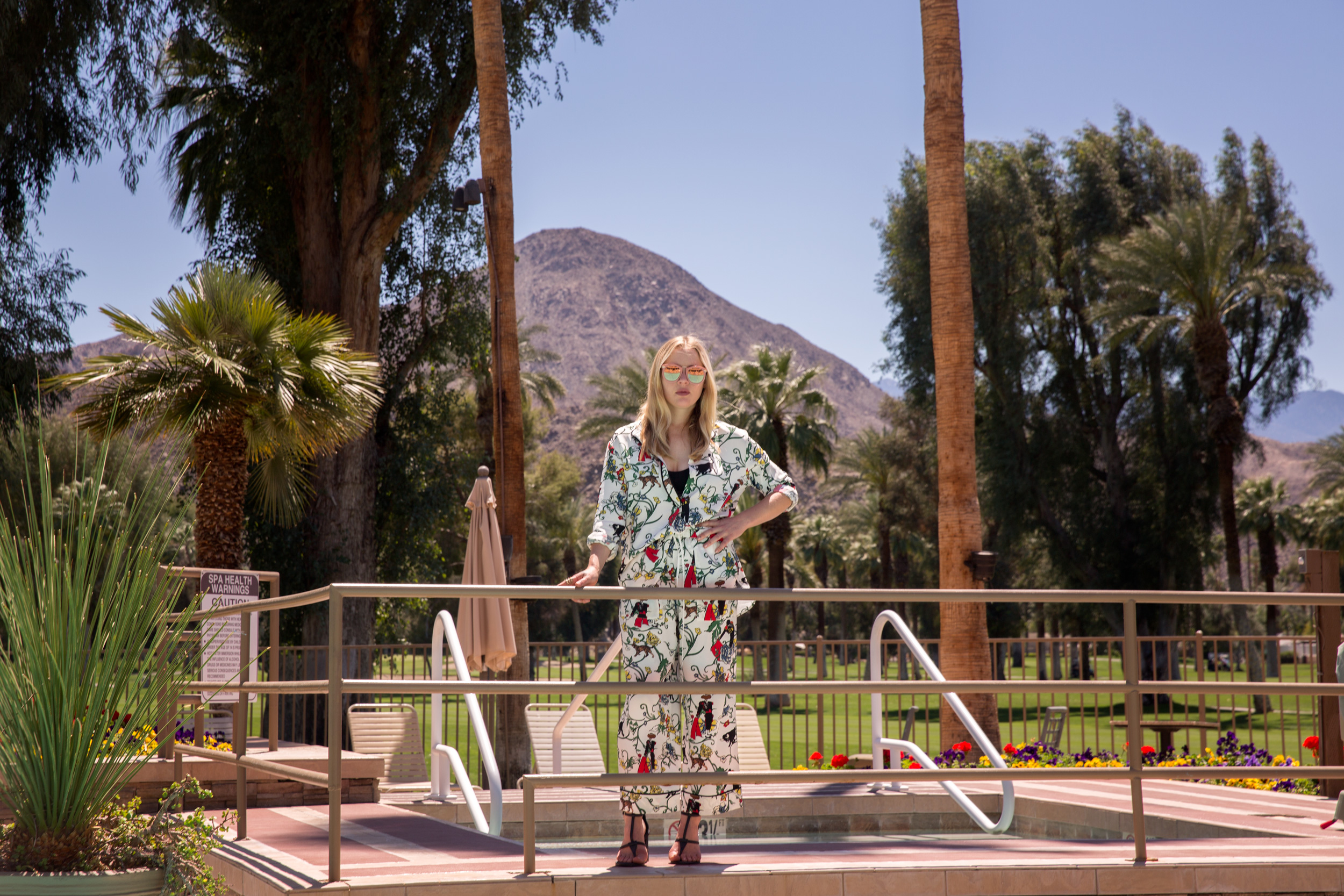Misty Boyce performed on keyboard and vocals with BØRNS on the Mojave Stage at Coachella. She brings a trucker hat with her on tour. 'It's my little security blanket. I feel like I'm protected somehow,' says Ms. Boyce.