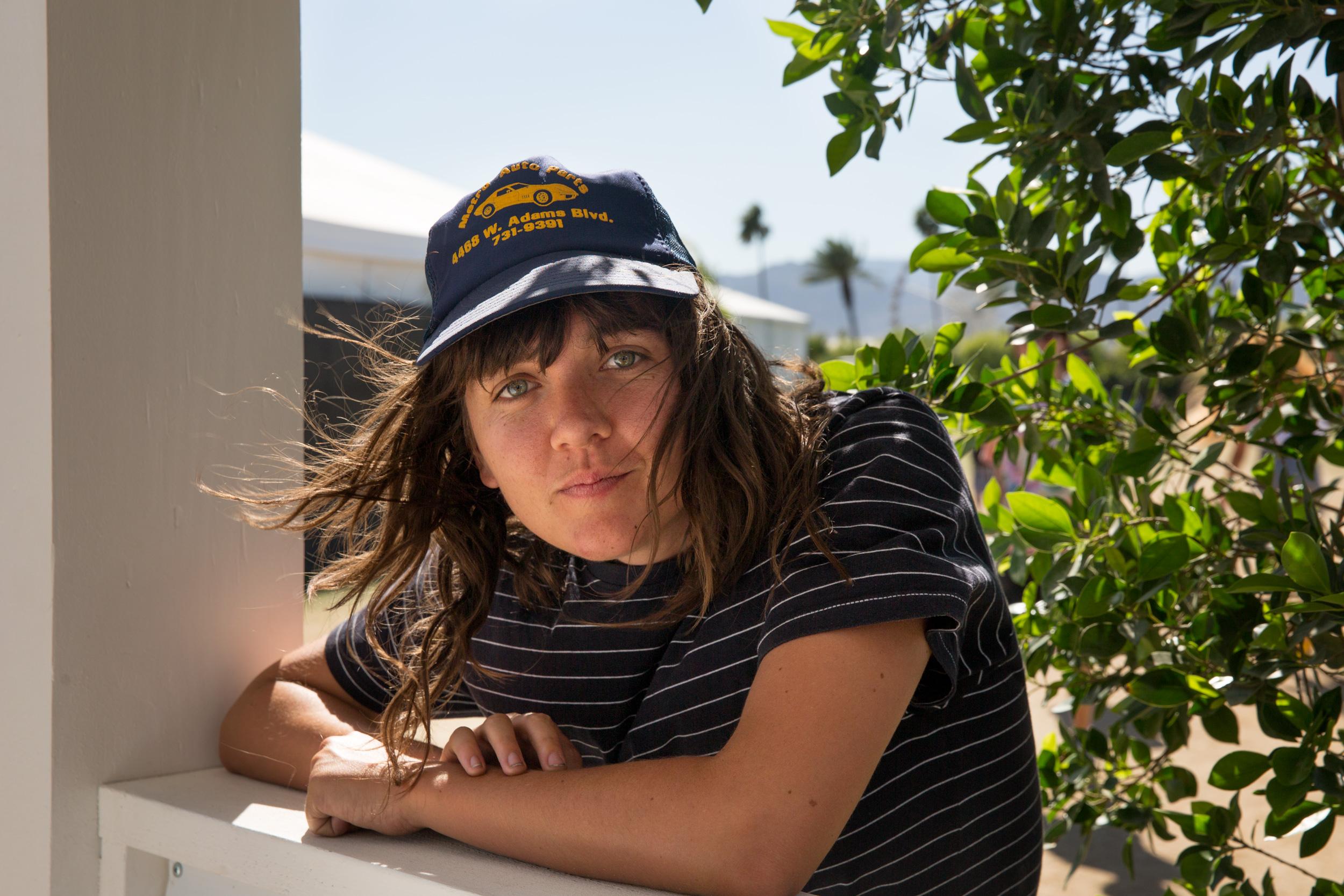Australian singer-songwriter Courtney Barnett got her hat for Coachella at a thrift store in Pomona, Calif.