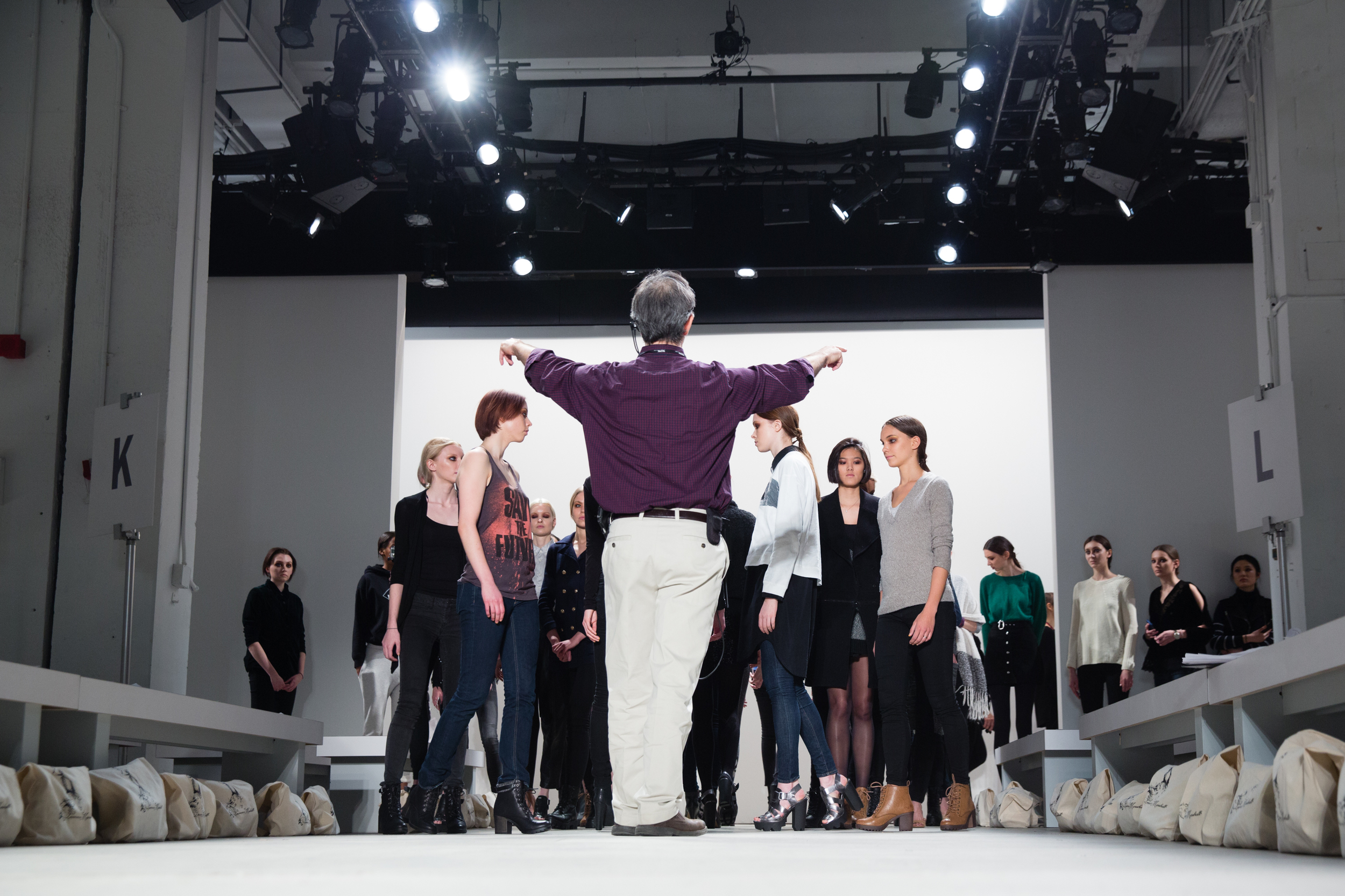 Behind the scenes at NY Fashion Week.   Copyright: IDJ Productions.