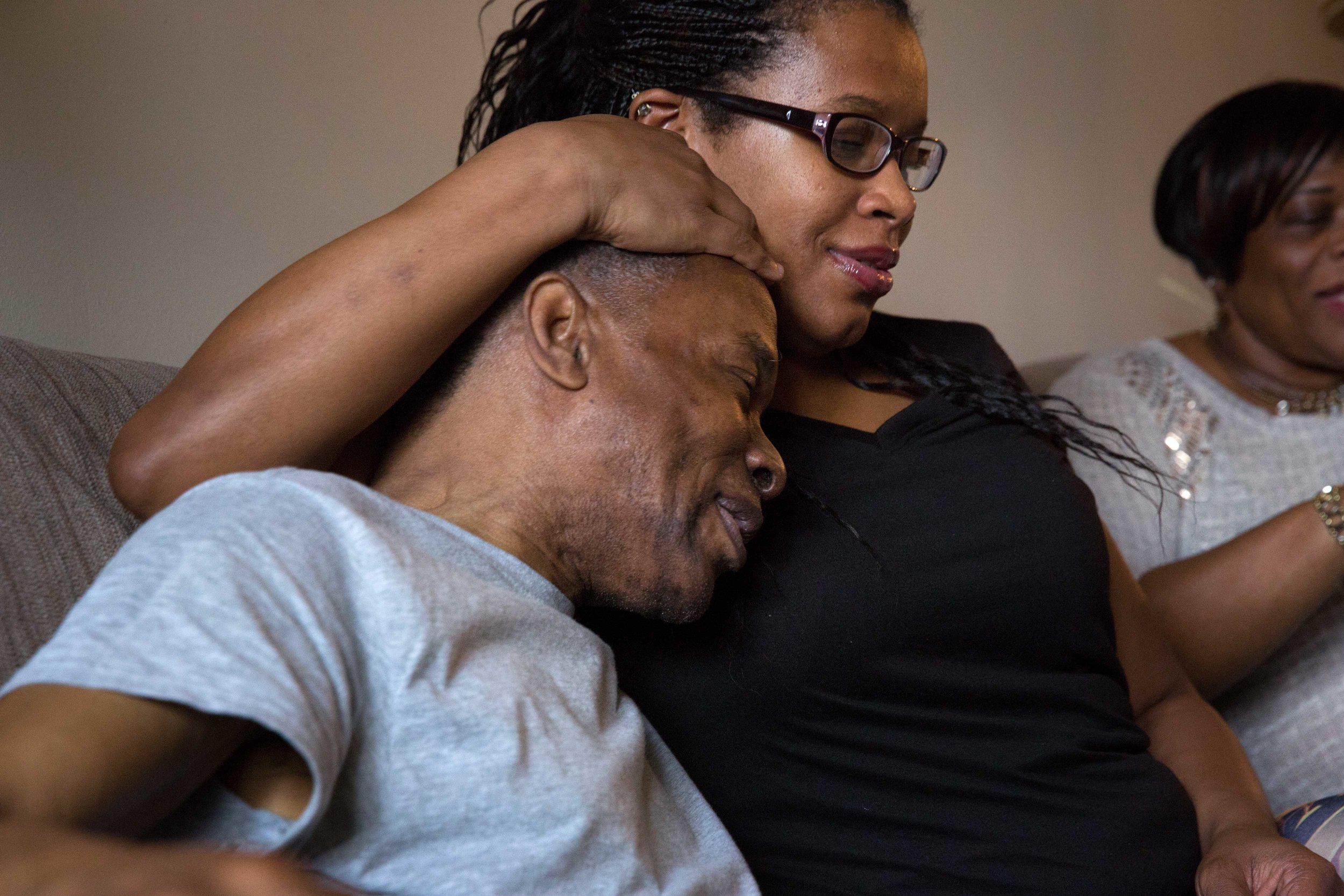 Ronald and his niece, at one of many family get-togethers since Ronald's release from prison. Ronald's sister and two nieces live in New Jersey, an hour and a half from Willie Mae's house in Philadelphia.