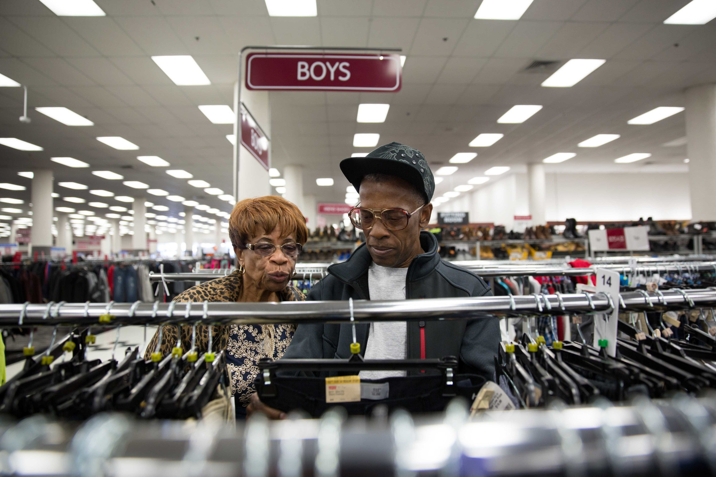 Willie Mae takes Ronald shopping in Philadelphia, a day after his release from St. Clair Correctional Facility in Alabama.