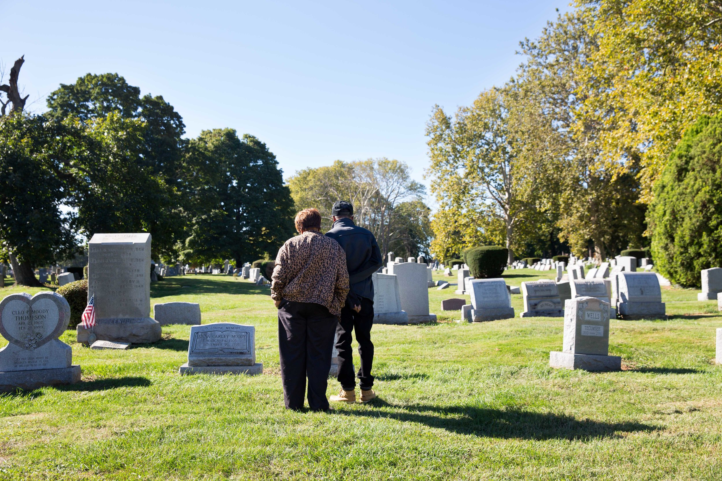 """Ronald and his mother Willie Mae visit his grandmother Sallie (""""Big Grandmama"""")'s grave who helped raise him in Alabama. Big Grandmama passed away in 1997 at the age of 78, which is a year younger than Willie Mae is now. Elston regrets not being able to attend her funeral."""
