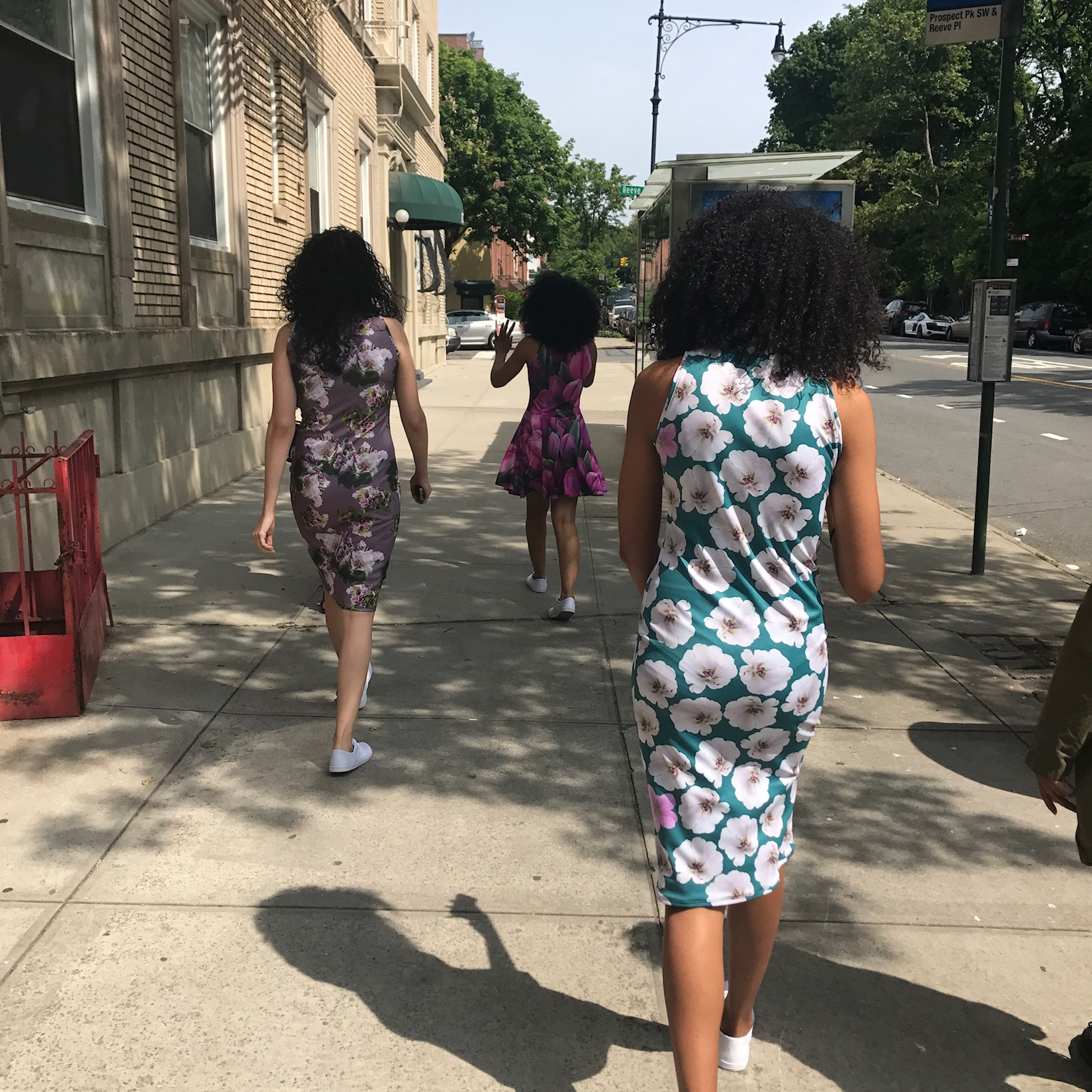Kær's 2017 summer dresses lighting up the sidewalk. How can these prints not make you happy?