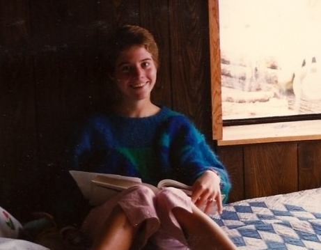 Me at 16, wearing my favorite pants and sweater. Both of which I had made myself. (I also quilted, but this particular quilt was a loan from my host-family).
