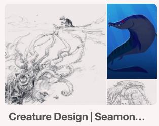 https://www.pinterest.com/characterdesigh/creature-design-seamonster/