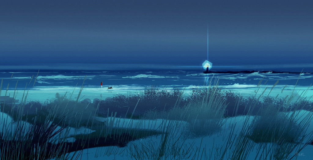 walking_on_the_beach_at_night__by_pascalcampion-da9vj0r.jpg