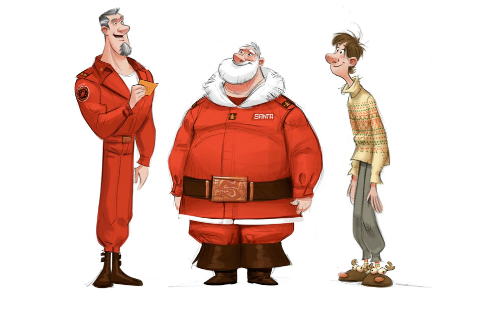 Arthur Christmas Characters.Art Of Arthur Christmas