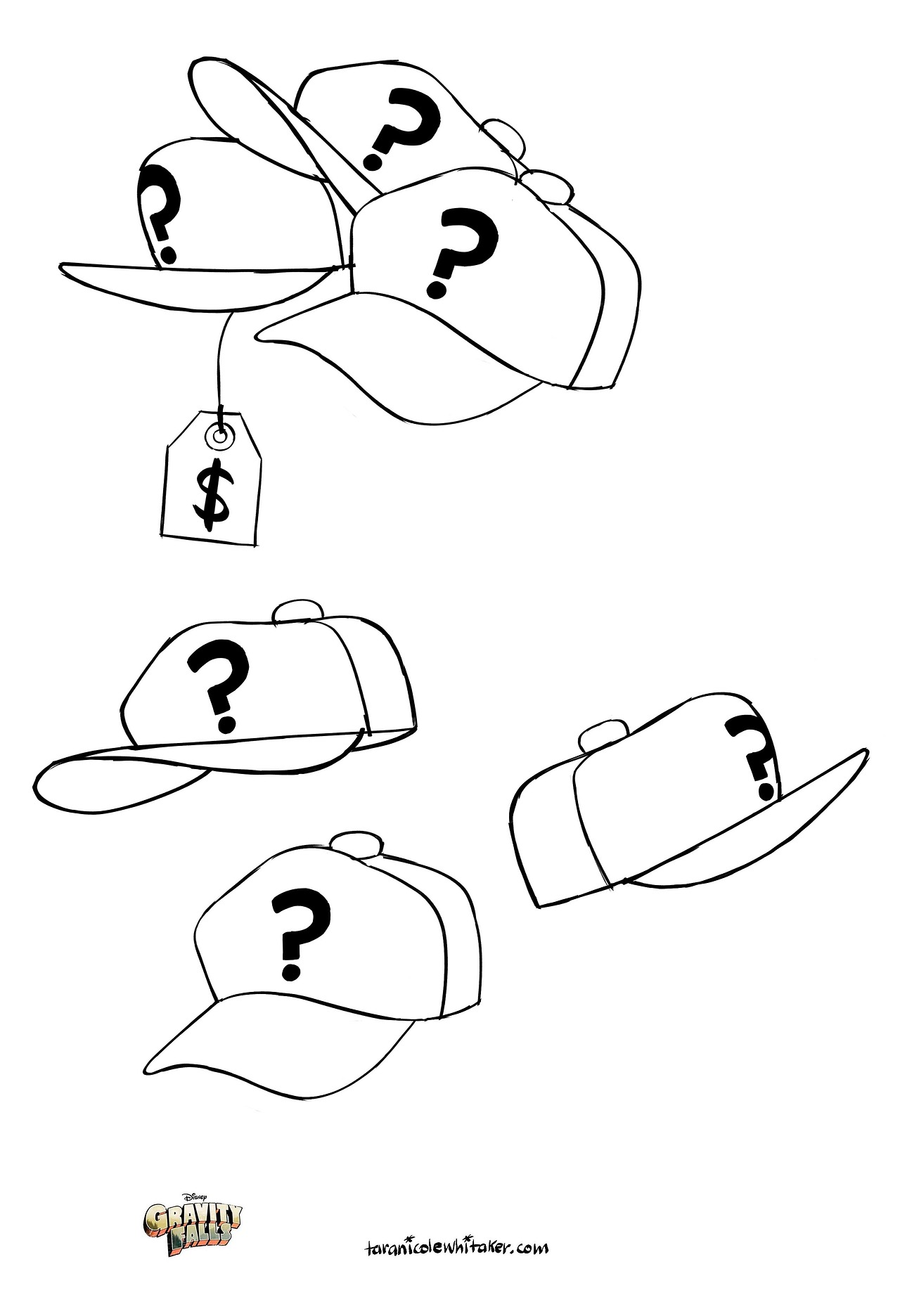 Tara_Nicole_Whitaker_props_Mystery_Shack_hats.jpg