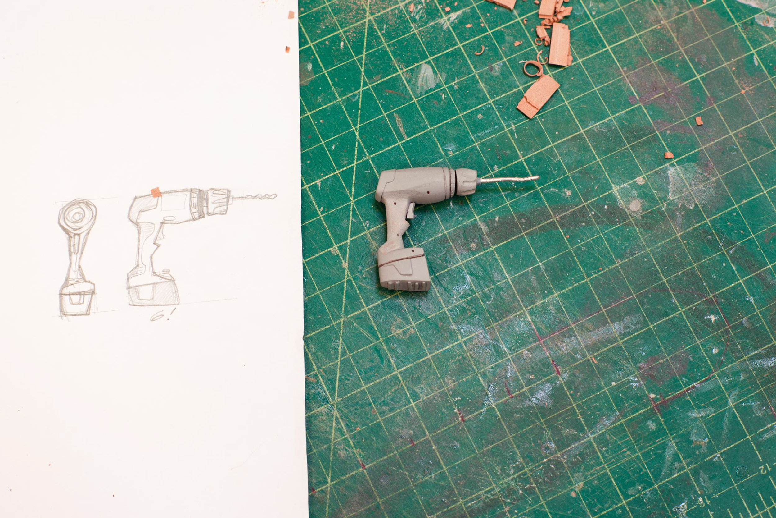 A drill goes from sketch to prop for ParaNorman, the new 3D stop-motion comedy thriller.  Credit: LAIKA, Inc.